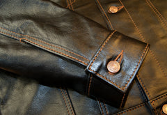 Aero 557XX Type 3 Jean Jacket, size 42, Blackened Brown Vicenza Horsehide