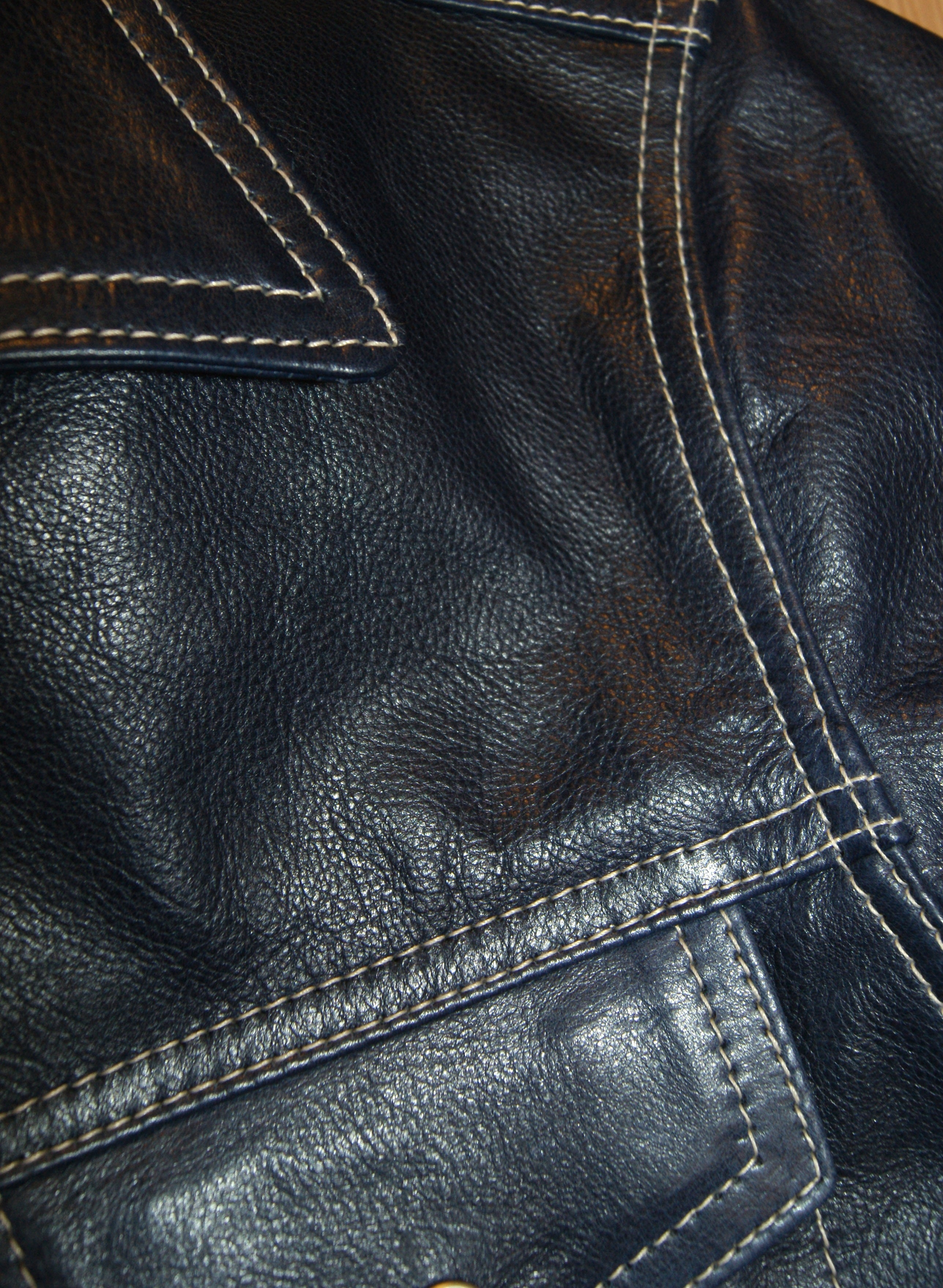 Aero Type 3 Jean Jacket, size 40, Blue Vicenza Horsehide