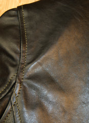 Aero Women's Motorcycle Jacket, size 4, Blackened Brown Vicenza Horsehide