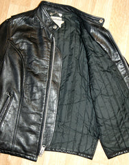 Vintage Women's Cafe Racer Jacket, size 34