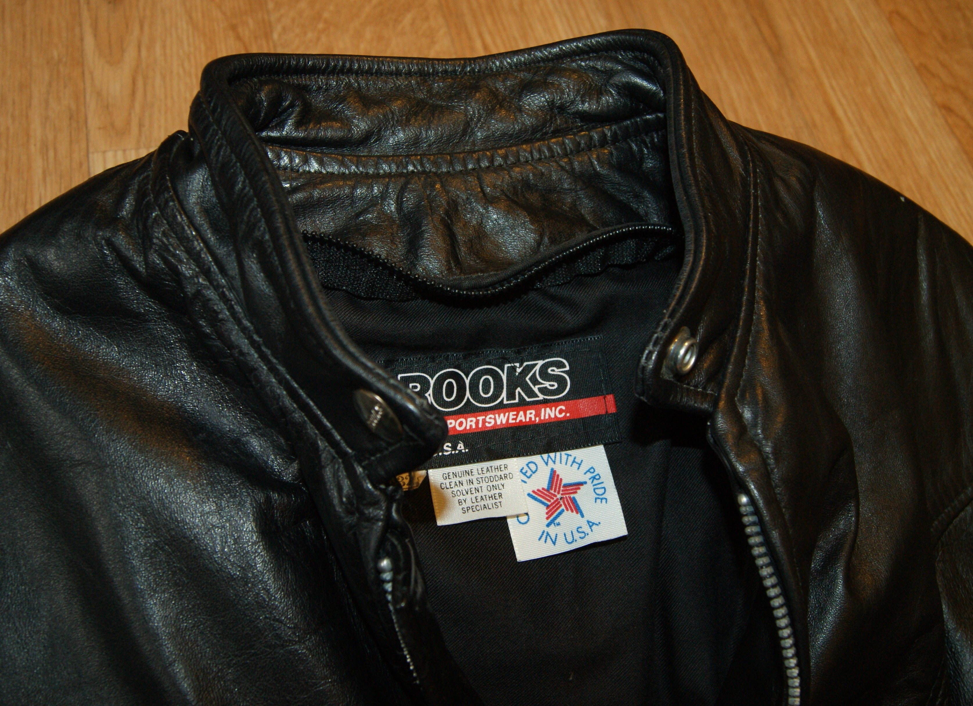 Vintage Brooks Cafe Racer Jacket, size 32