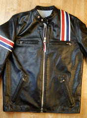 """Easy Rider"" Three-Pocket, size 42, Black Cowhide"