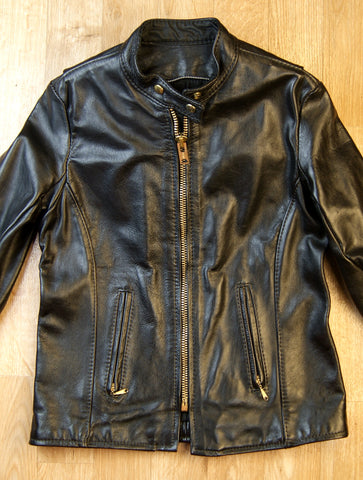 Ladies Vintage Vanson Cafe Racer Jacket
