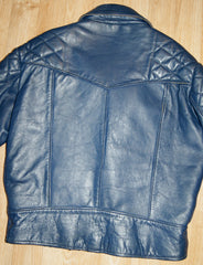 Vintage Blue Crosszip Jacket, size 42