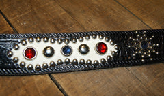 Bulbous Belt, jeweled, size 34, Black