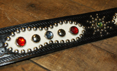 Bulbous Belt, jeweled, size 36, Black