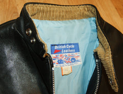Vintage British Cycle Leathers Cafe Racer, size 46