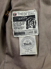 Thedi Aegean Half Belt, size XL, Light Brown Buffalo