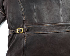 Thedi Evander Crosszip Half Belt, size XL, Brown Goatskin