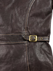 Thedi Evander Crosszip Half Belt, size Large, Brown Goatskin
