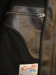 Thedi x Thurston Black Italian Buffalo Phenix Quilted Cafe' Racer