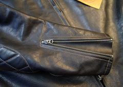 Thedi Phenix Cafe Racer Jacket, size XL, Black Buffalo
