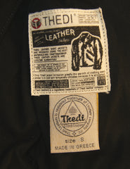 Thedi Phenix Cafe Racer Jacket, size Small, Black Buffalo