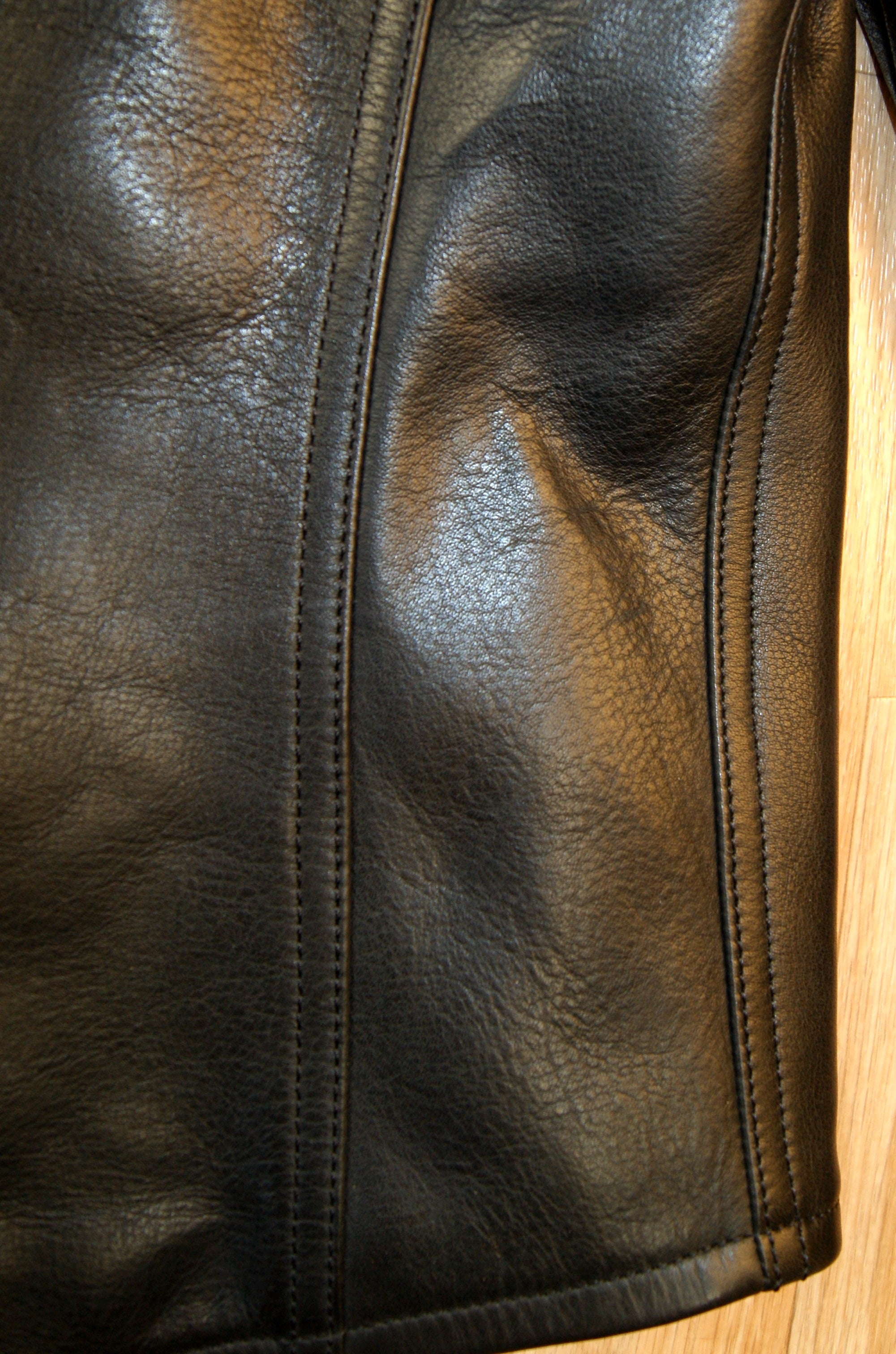 Thedi Phenix Cafe Racer Jacket, size Medium, Black Horsehide