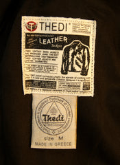Thedi Phenix Cafe Racer Jacket, size Medium, Brown Horsehide