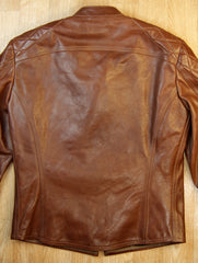 Thedi Phenix Cafe Racer Jacket, size Small, Caffe Buffalo