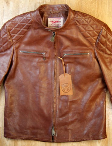 Thedi Phenix Cafe Racer Jacket, size XL, Caffe Buffalo
