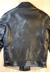 Thedi Button-Up Shawl Collar Jacket, size Small, Black Cowhide