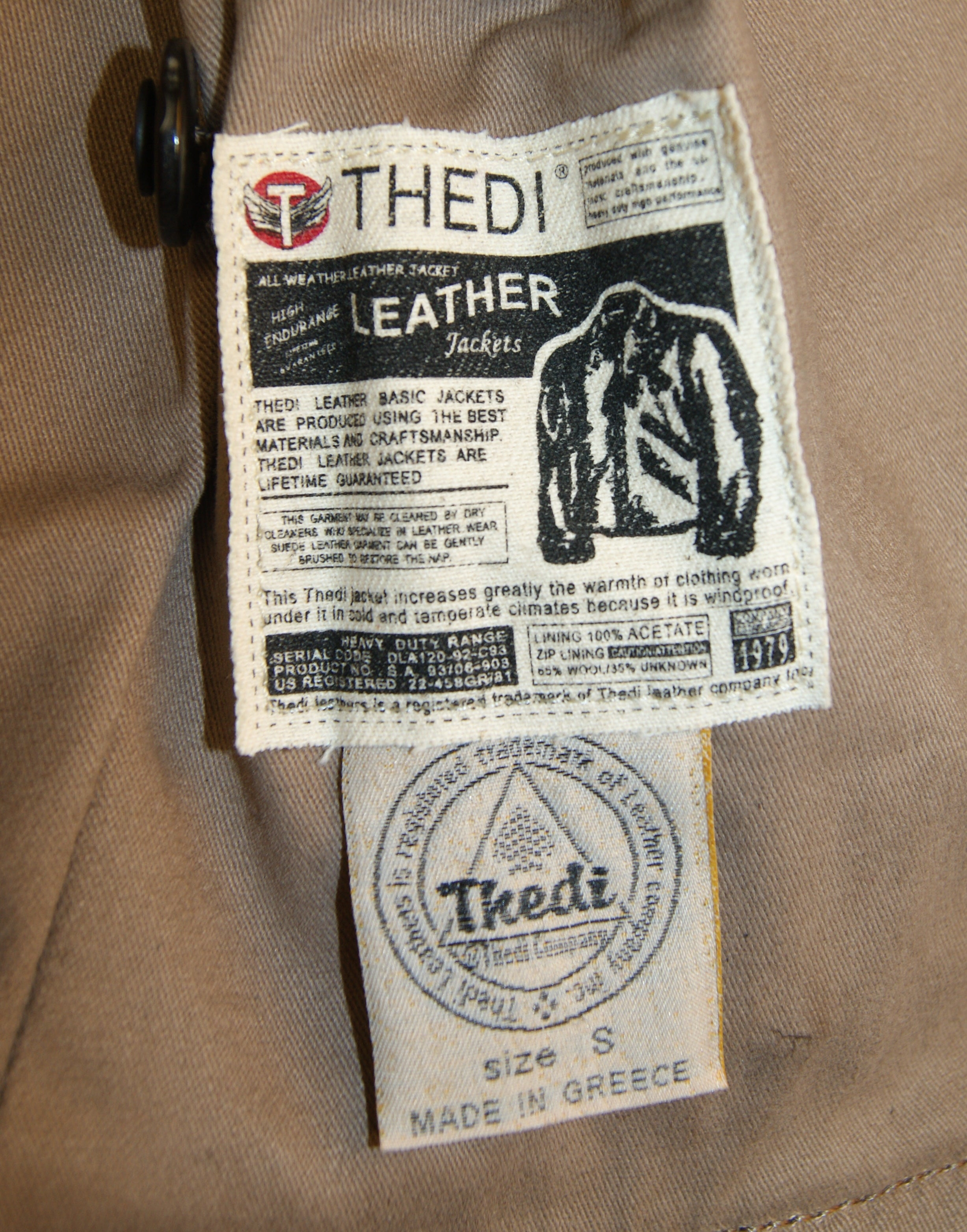 Thedi Button-Up Shawl Collar Jacket, size Small, Brown Cowhide