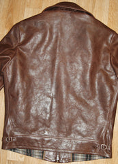 Thedi Zip-Up Shawl Collar Jacket, size Large, Espresso Buffalo