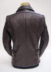 Vanson Model F Jacket, Heavy Brown Cowhide, size 38