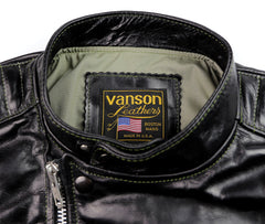 Vanson Portland, Black Bainbridge, size Medium (38)