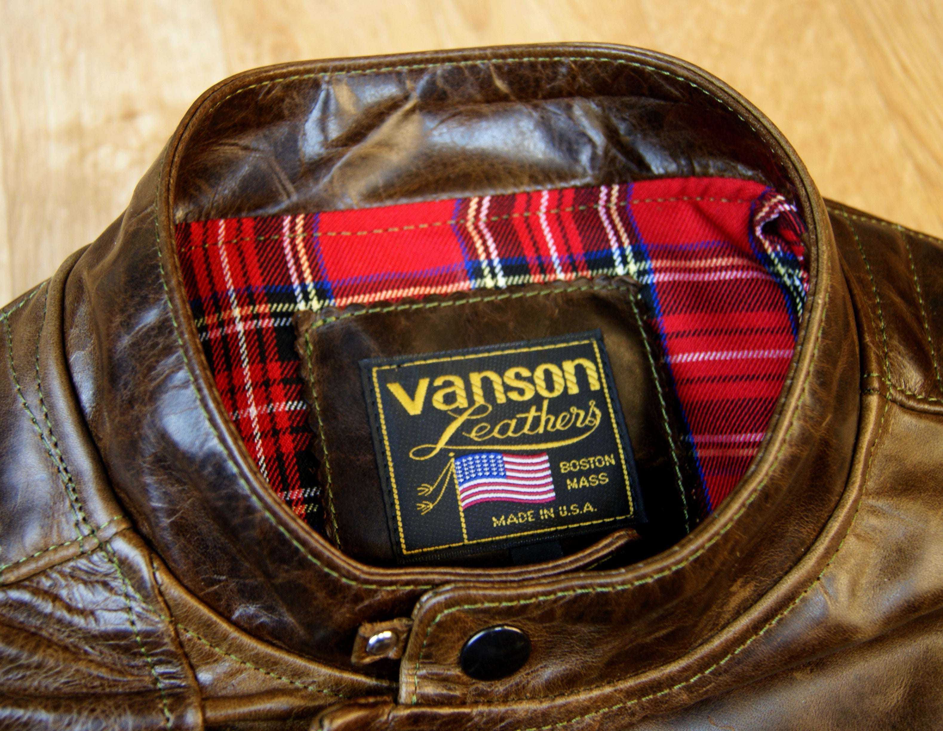 Vanson Portland, Dark Maple Bainbridge, size XL