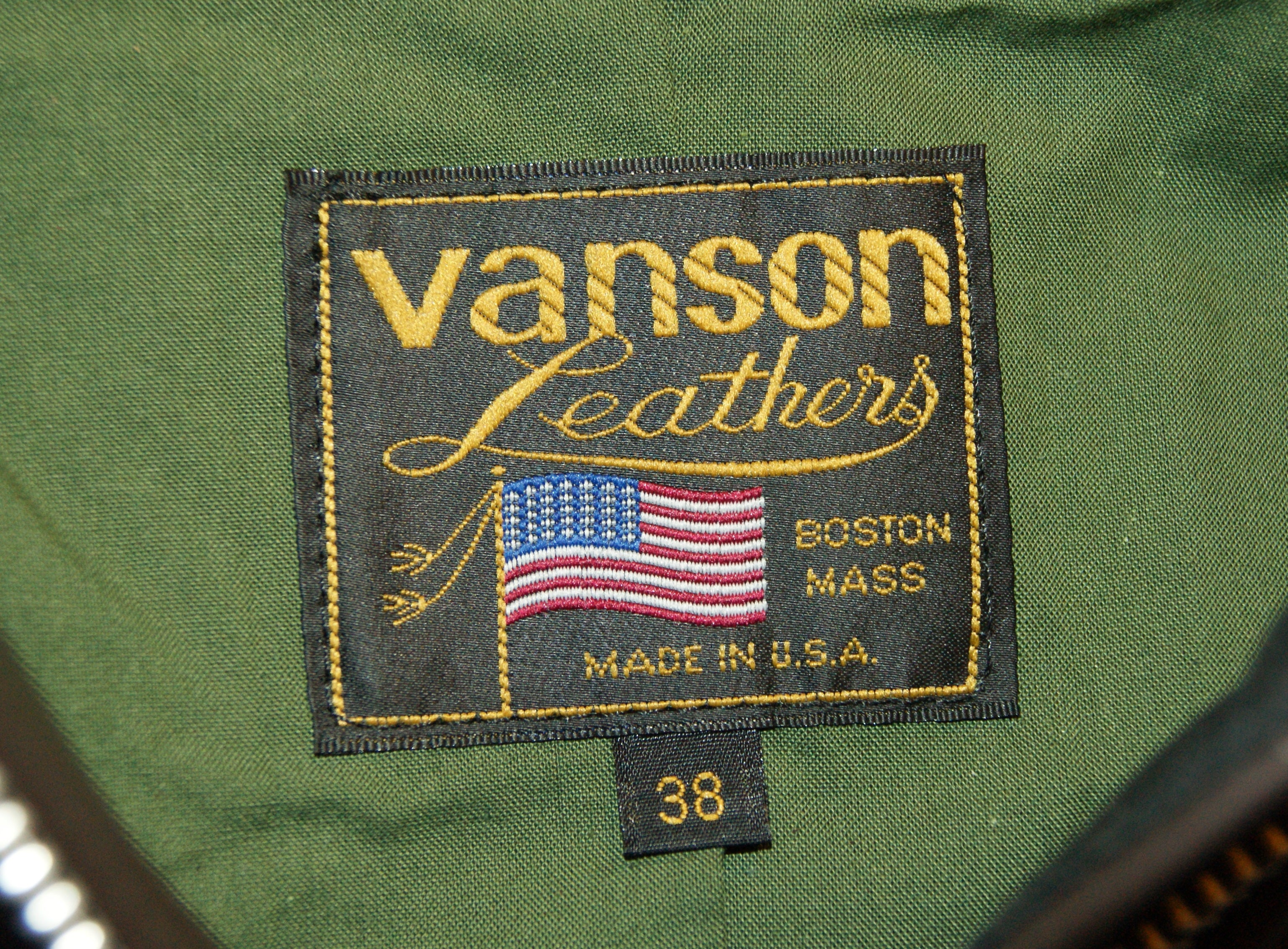 Vanson Model F in Brown Cowhide