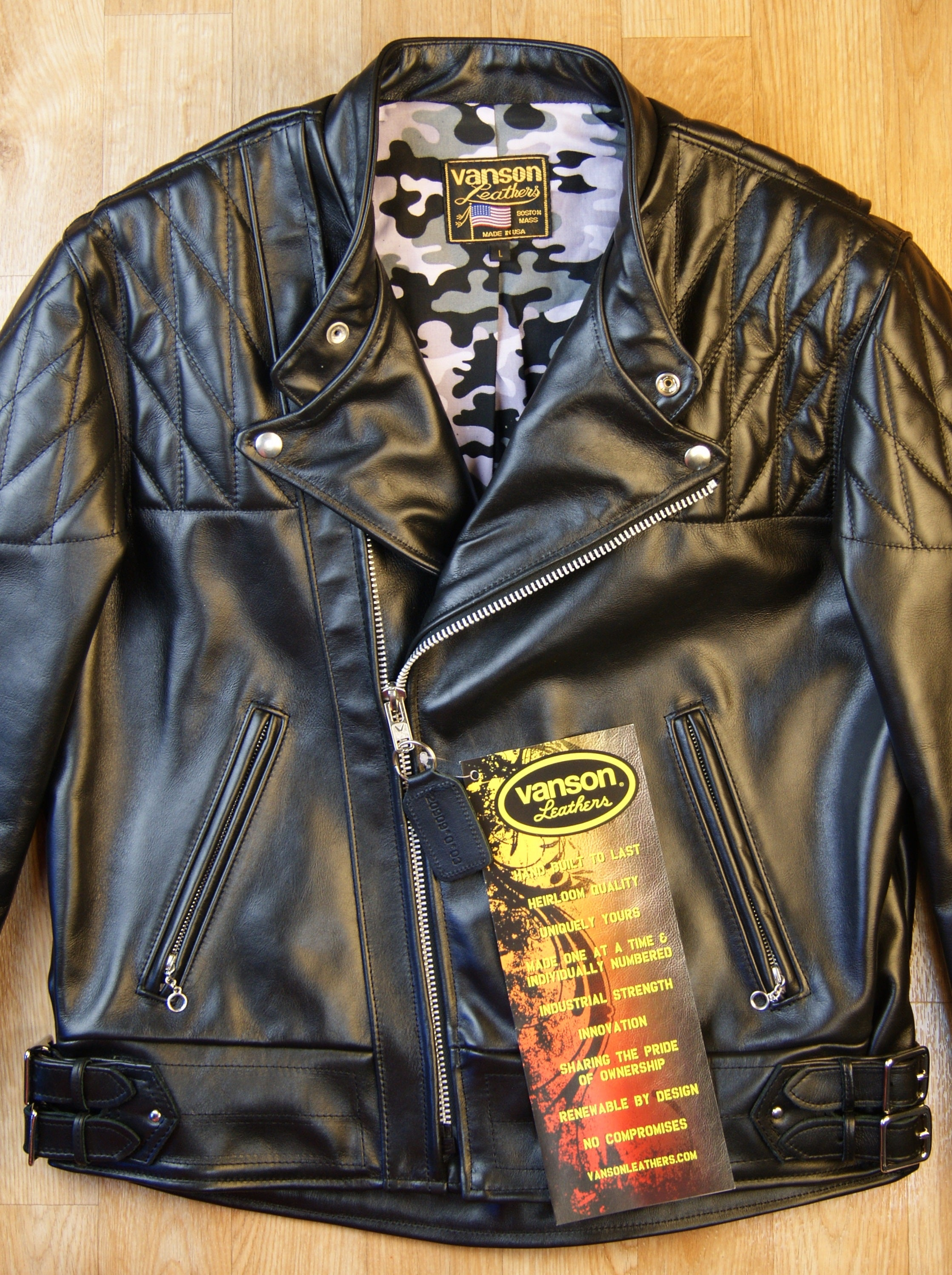 Vanson Chopper Jacket, size Large