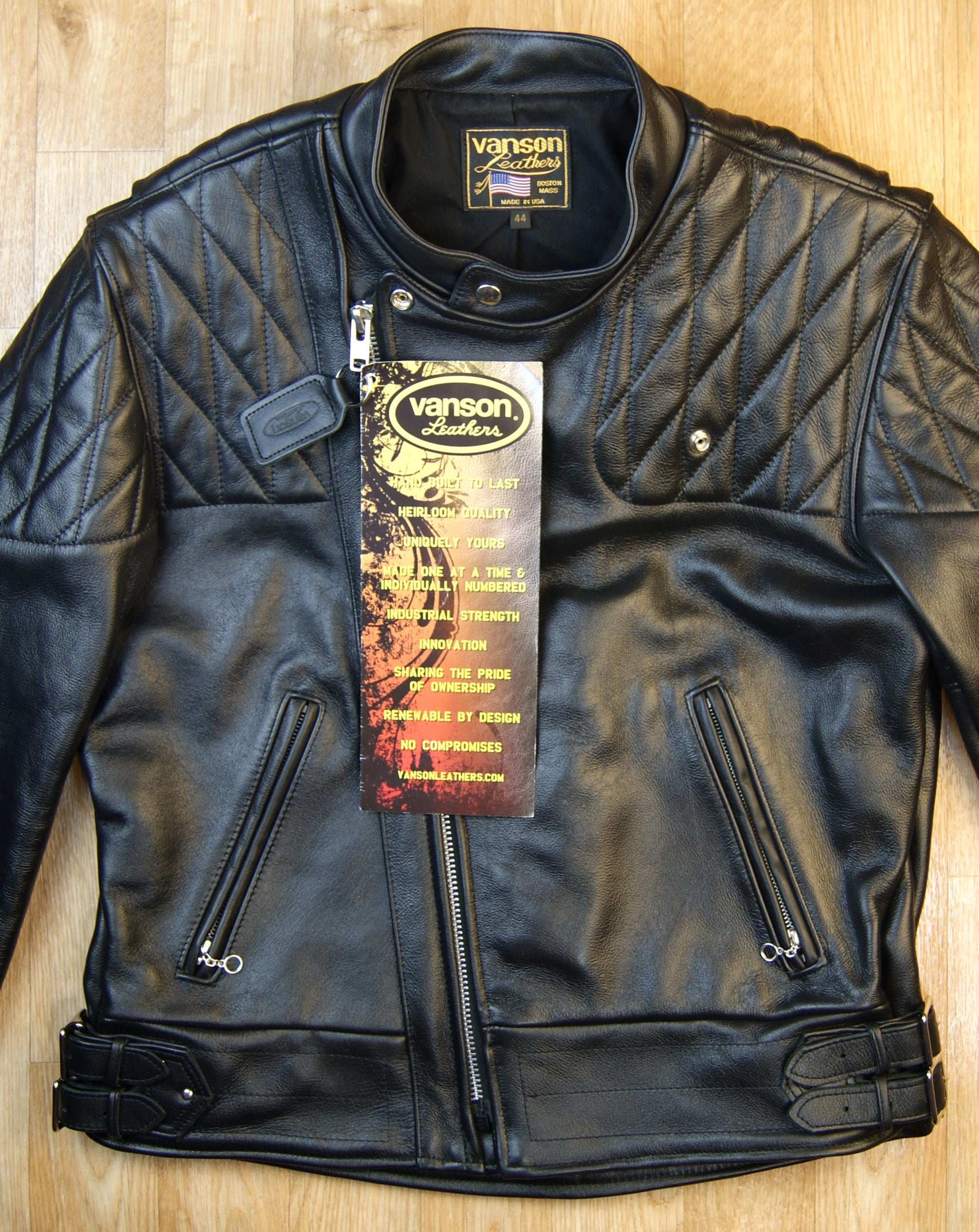 Vanson Chopper Jacket, size 44