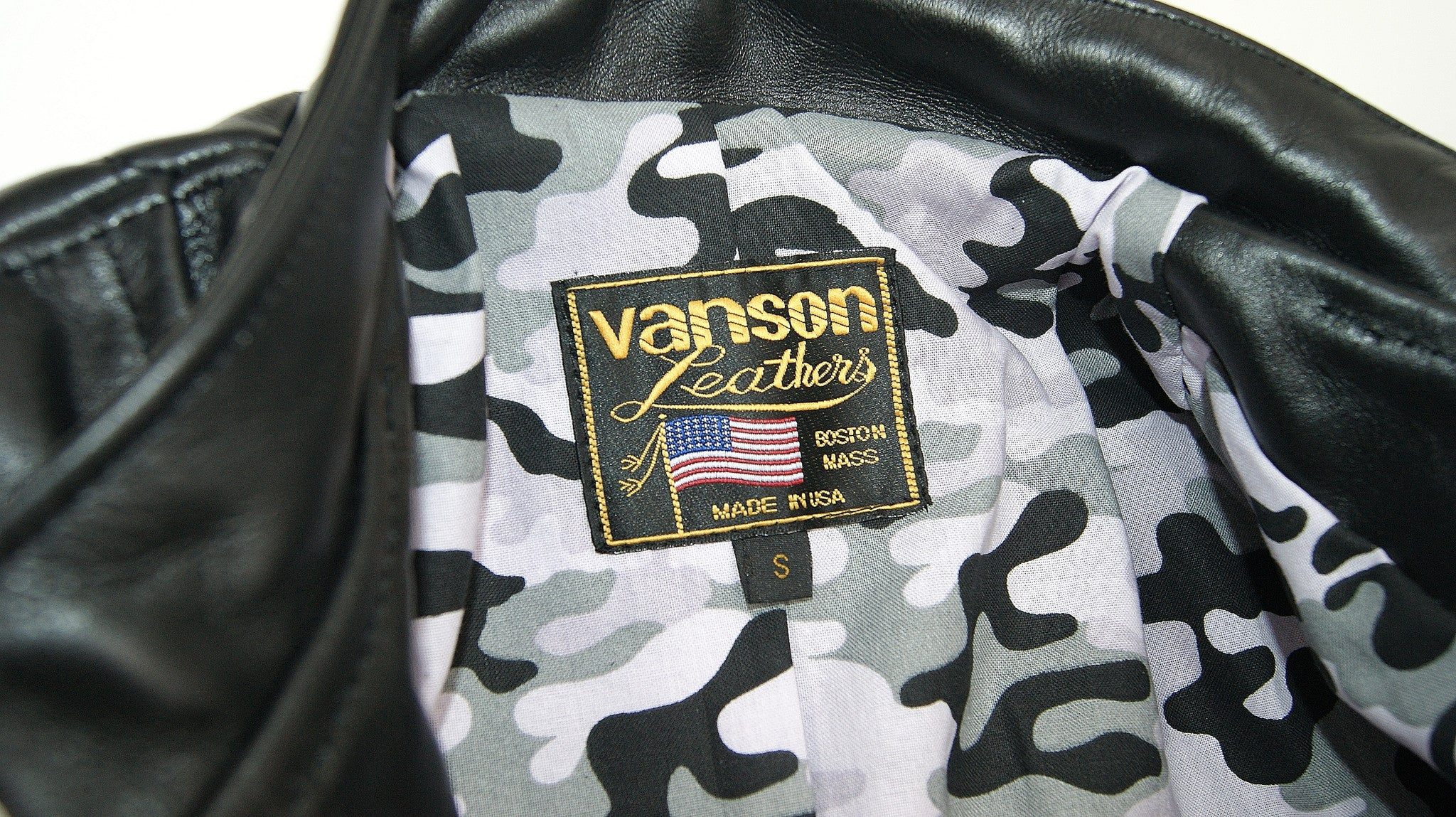 Vanson Chopper with Camo Lining