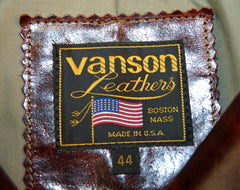 Vanson Gambler, size 44, Redwood Bainbridge