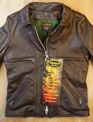 Vanson Model F Jacket, Heavy Brown Cowhide, size 40