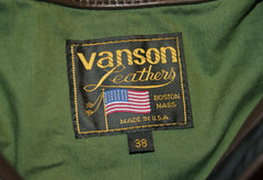 Vanson Model B in Brown Cowhide