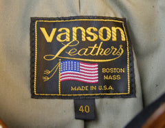 Vanson Model F, Dark Maple Bainbridge, size 40