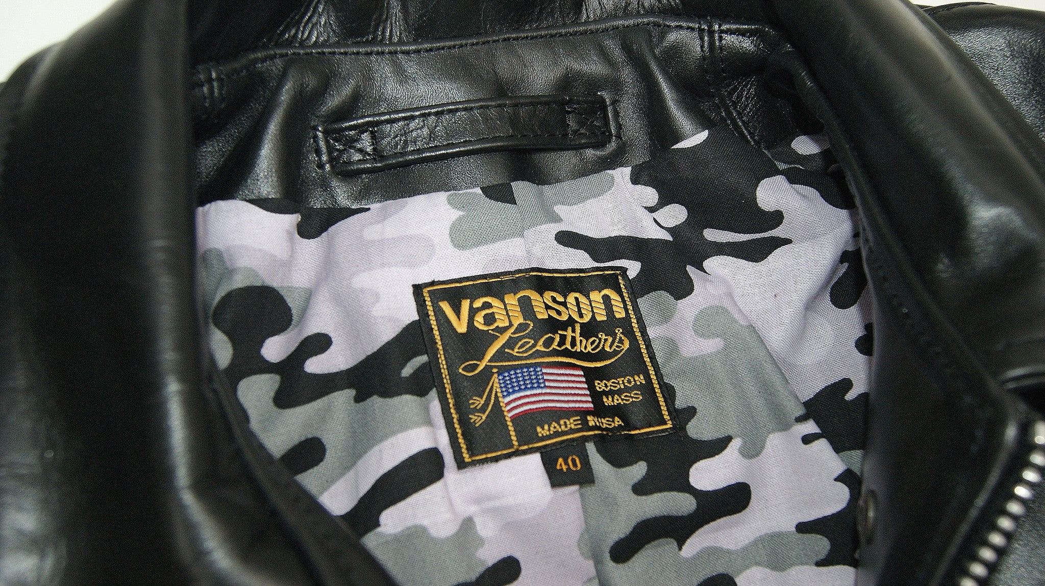 Vanson Panther, size 40, Camo Lining, Z150 Cowhide