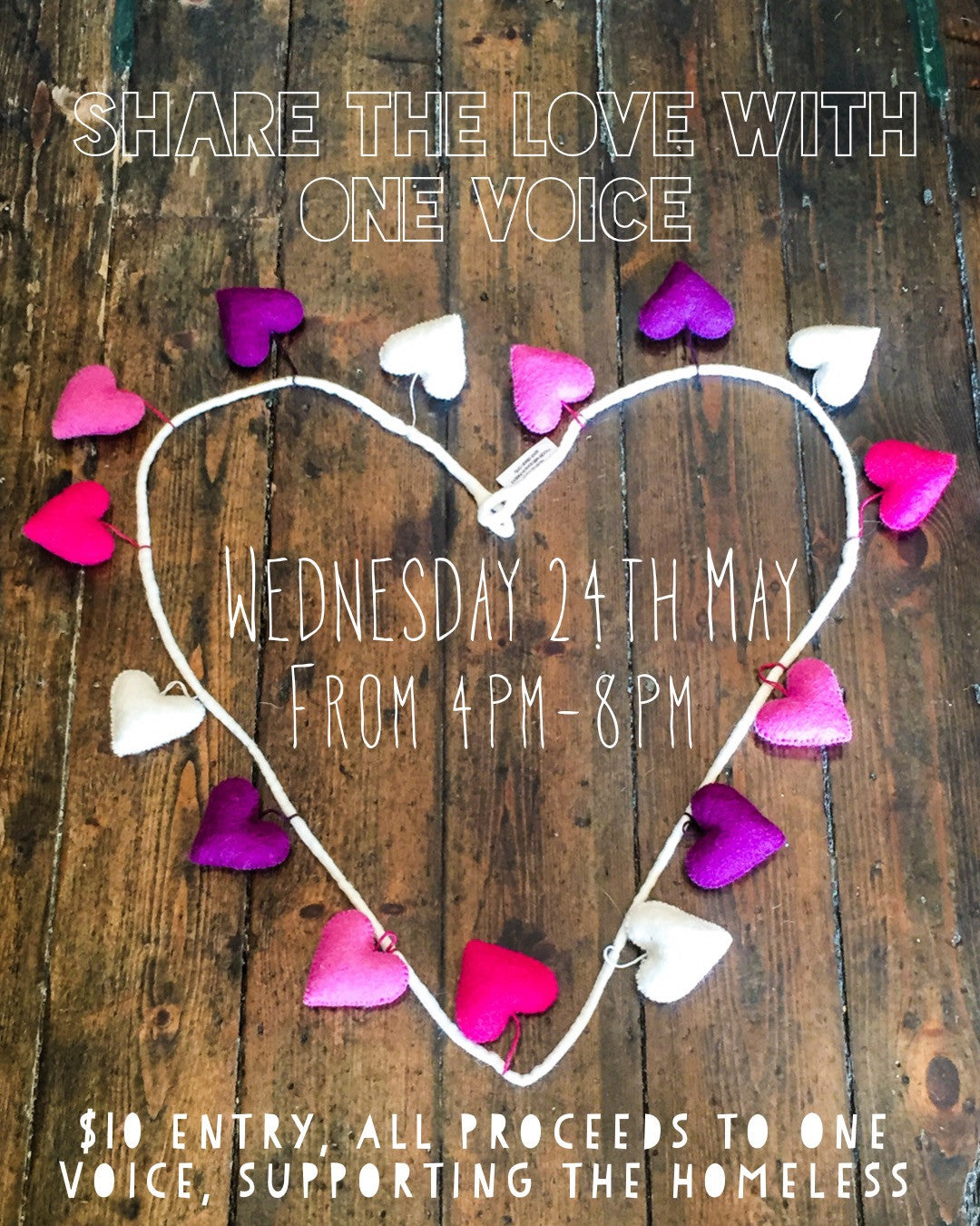 One Voice Fundraiser 24th May 2017 (4-8pm)