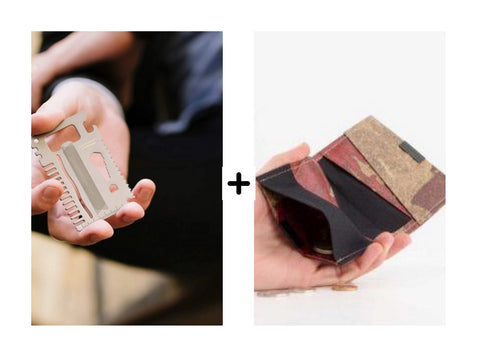 credit card tool and paper wallet