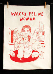 tea-towel-wacky-feline-woman
