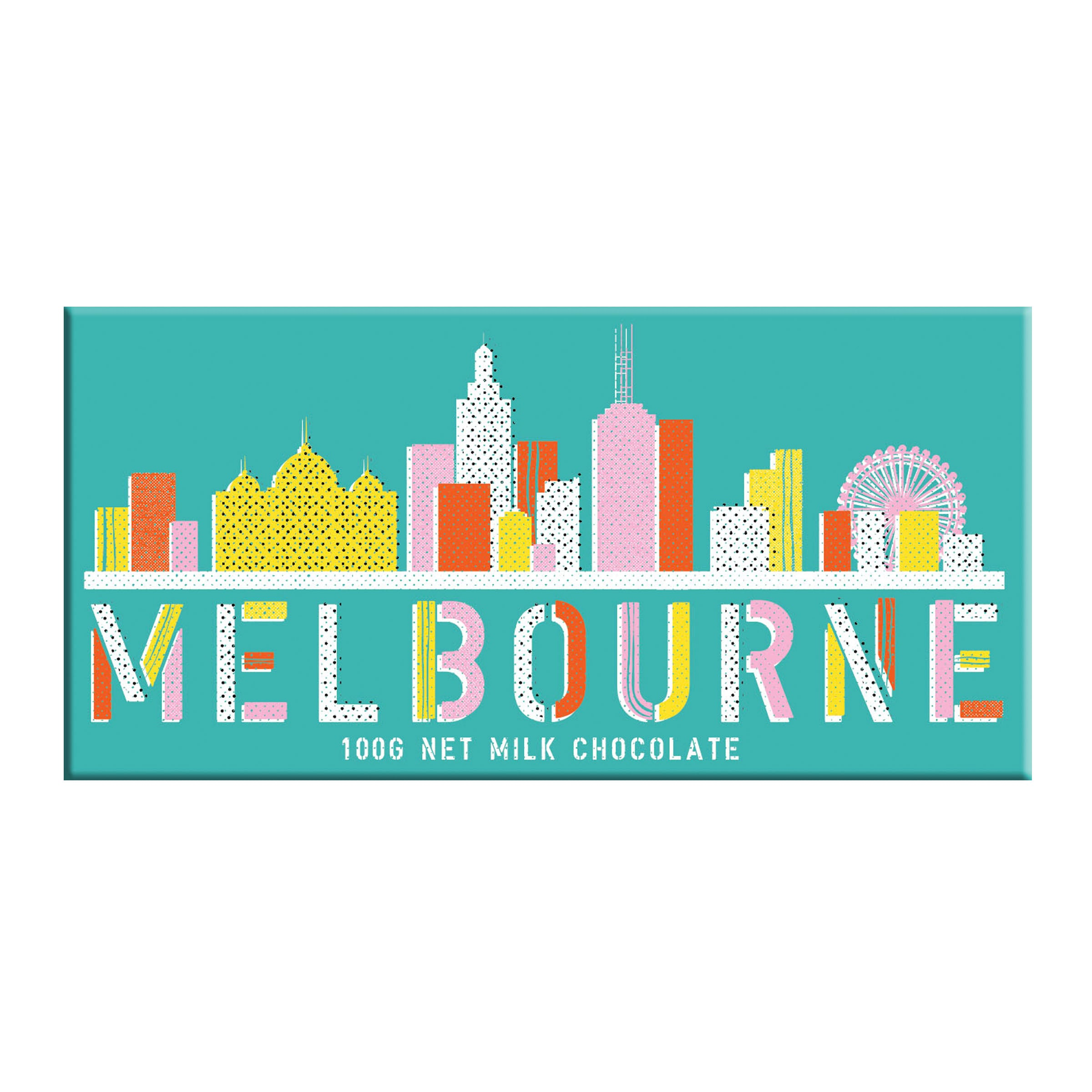 BellaBerry Melbourne Skyline Print Milk Chocolate -Chocolate