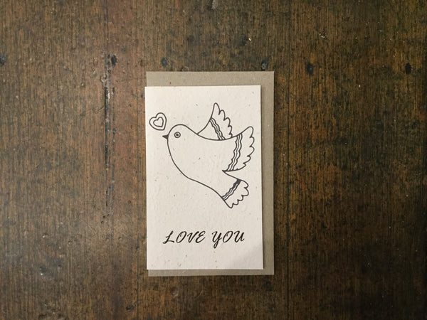 Planet Go Round Love You Dove Seed Card -Cards Melbourne