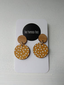 The Papered Tree Circle Drop Earrings -Earrings