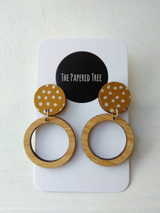 Hoop Drop Earrings - Pookipoiga