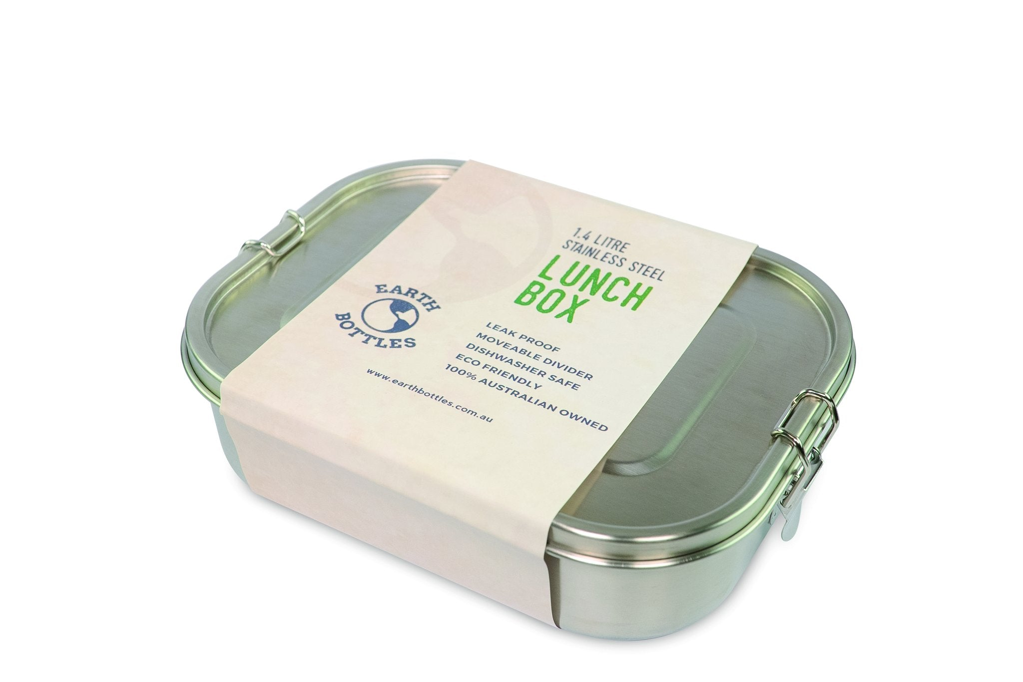 Earth Bottle 1.4 Litre Stainless Steel Lunch Box with removable divider -Lunch box