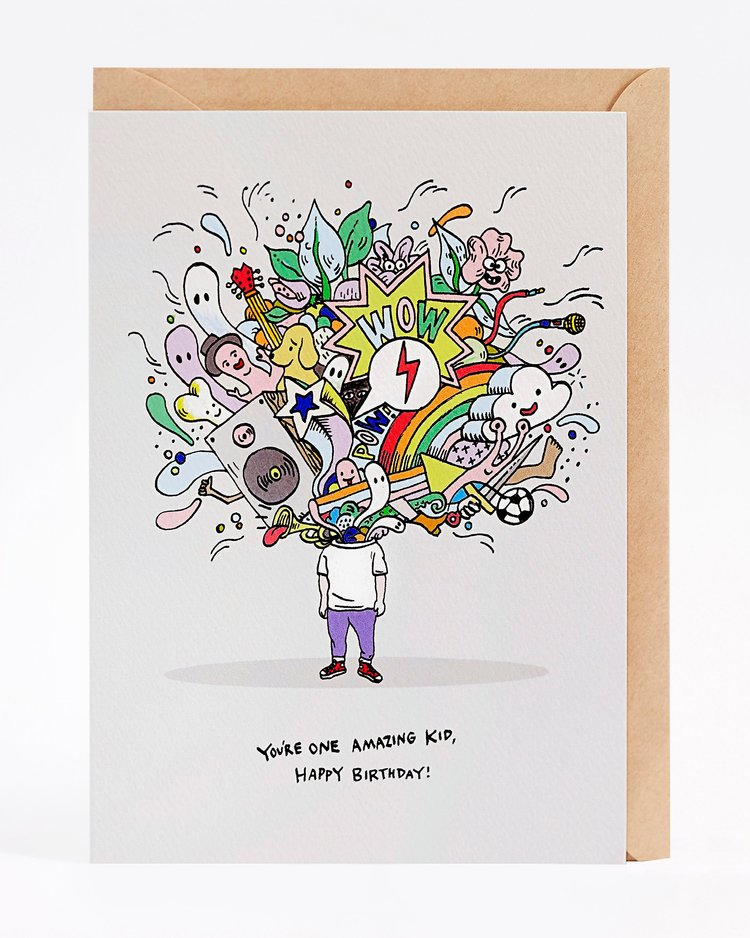 Wally Paper Co Happy Birthday Amazing Kid Card -Cards