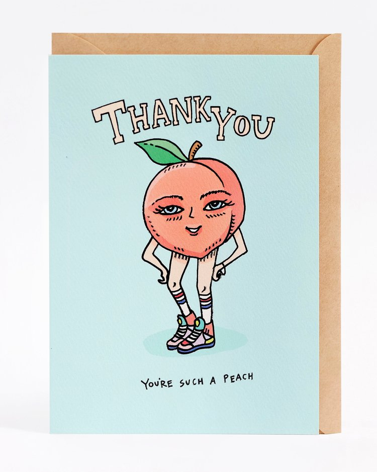 Wally Paper Co - Thank You Peach - last minute gift idea - melbourne