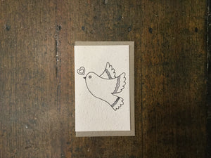 Planet Go Round Love Heart Dove Seed Card -Cards