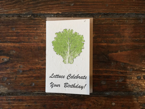 Planet Go Round Lettuce Celebrate Seed Card -Cards Melbourne