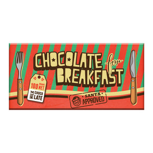 BellaBerry CHOCOLATE FOR BREAKFAST – SANTA APPROVED Milk Chocolate -Chocolate