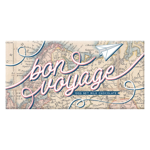 Bon Voyage Map Chocolate - last minute gift idea